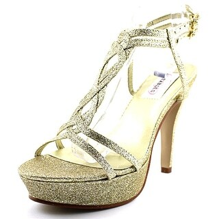Dyeables Vivi Women Open Toe Synthetic Platform Heel