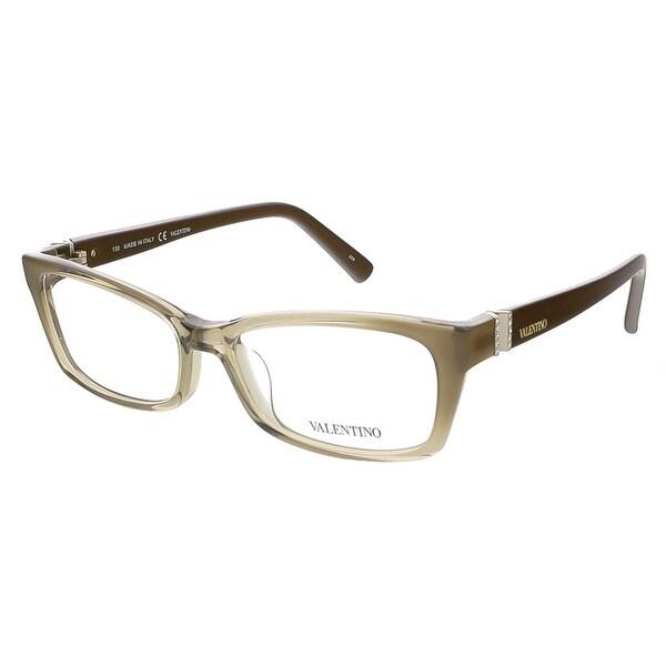Valentino V2615R 303 Khaki/Brown Rectangular Valentino Eyewear - 52-16-130