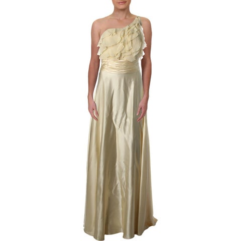 Aidan Mattox Womens Evening Dress Satin One Shoulder