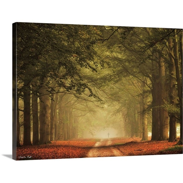 """Misty Walk"" Canvas Wall Art"