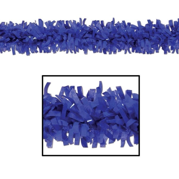 Club Pack of 24 Bright Blue Festive Tissue Festooning Decorations 25'