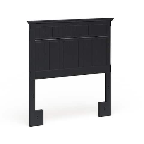 Furniture of America Tisc Cottage Black Twin Solid Wood Headboard