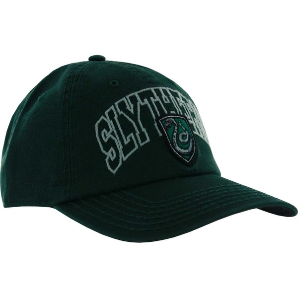 818f626cf037f Harry Potter Slytherin House Crest Adjustable Cap