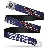 Transformers Decepticon Logo Full Color Black Blue Fade Decepticon The Seatbelt Belt