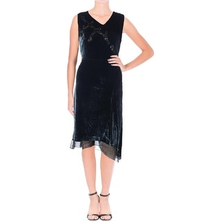 Elie Tahari Womens Teresa Velvet Prom Cocktail Dress
