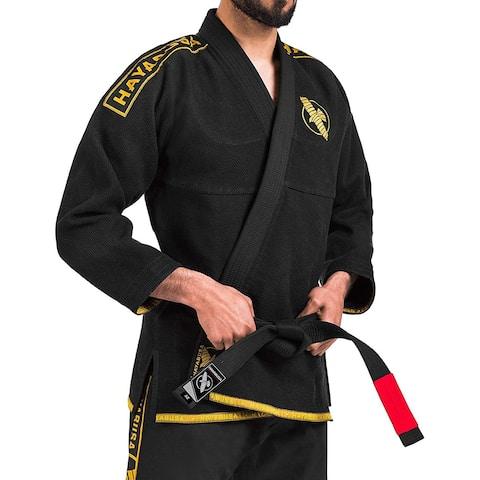 Hayabusa Lightweight Pearl Weave Jiu-Jitsu Gi - Black/Gold