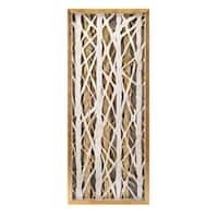 "47.25"" Ivory White and Golden Colored Contemporary Styled Decorative Wall Art - Black"