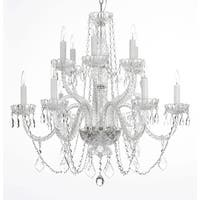 Swarovski Crystal Trimmed Chandelier! Chandelier Lighting Crystal Chandeliers - Clear