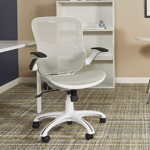 Riley Office Chair with White Mesh Seat and Back