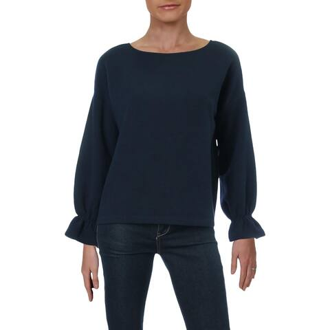 French Connection Womens Ellen Pullover Sweater Textured Crew Neck