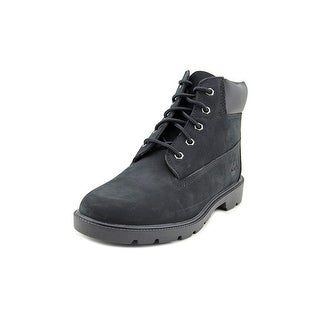 Timberland 6 IN Boot Youth Round Toe Leather Black Boot