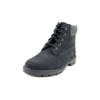 "Timberland 6"" Premium Waterproof Youth Round Toe Leather Black Boot