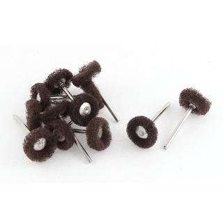 Brown Fiber Satin Finish Buffing Polishing Brush Wheel Jewelry Rotary Tool 12pcs