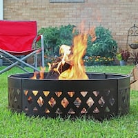 Sunnydaze Heavy-Duty Crossweave Campfire Ring, 36 Inch