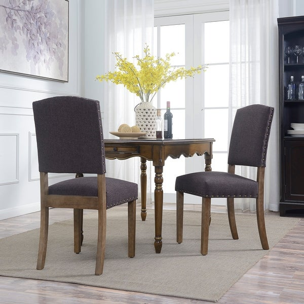 Shop Belleze 2pc Dining Room Chairs Parson Seat Cushion