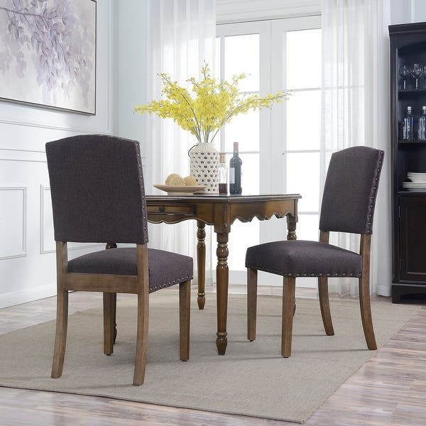 Shop Belleze 2PC Dining Room Chairs Parson Seat Cushion ...