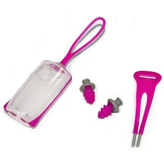 Aqua Sphere Silicone Ear Plugs with Case - Pink