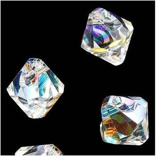 Swarovski Crystal, 6328 Bicone Beads 6mm, 10 Pieces, Crystal AB