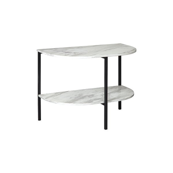 """Donnesta Contemporary Gray/Black Chair Side End Table - 17""""W x 13""""D x 24""""H. Opens flyout."""