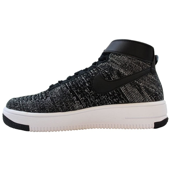 Nike AF1 Ultra Flyknit Mid BlackWhite 862824 001 Grade School Size 5Y