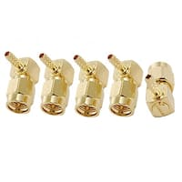 SMA Male Jack Right Angle Crimp RG174 RG316  RF Coaxial Connector 5pcs