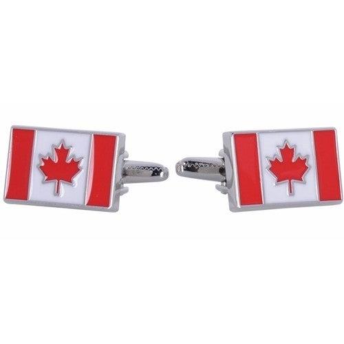 Canadian Flag Canada Maple Leaf Cufflinks