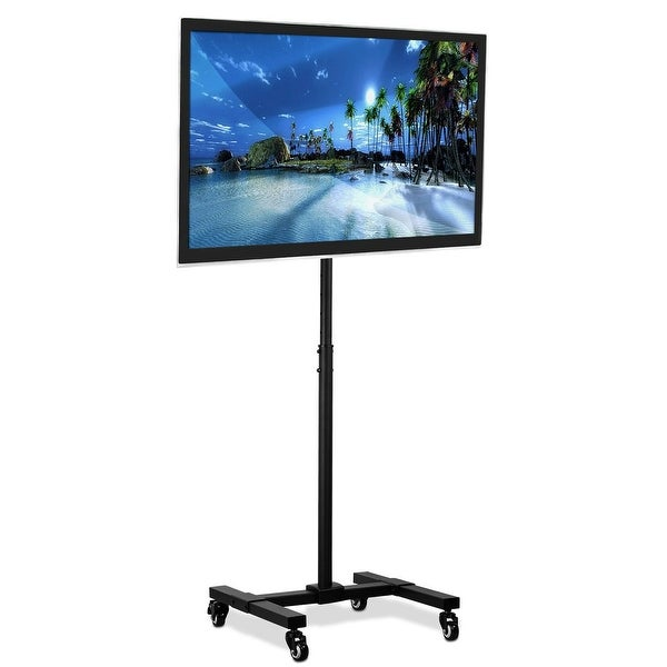 Mount-It! Mobile TV Stand with Wheels. Opens flyout.