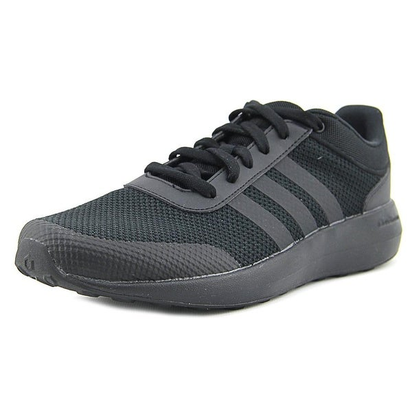 Adidas Cloudfoam Race Men Round Toe Synthetic Black Running Shoe