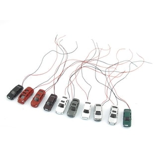 10 Pieces Assorted Colors Artificial Flash Model Car Toy Layout Scene 1:100