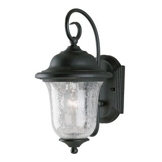 """Westinghouse 6484100 12.88"""" Tall 1 Light Outdoor Lantern Wall Sconce from the Studenburg Collection - Gold"""