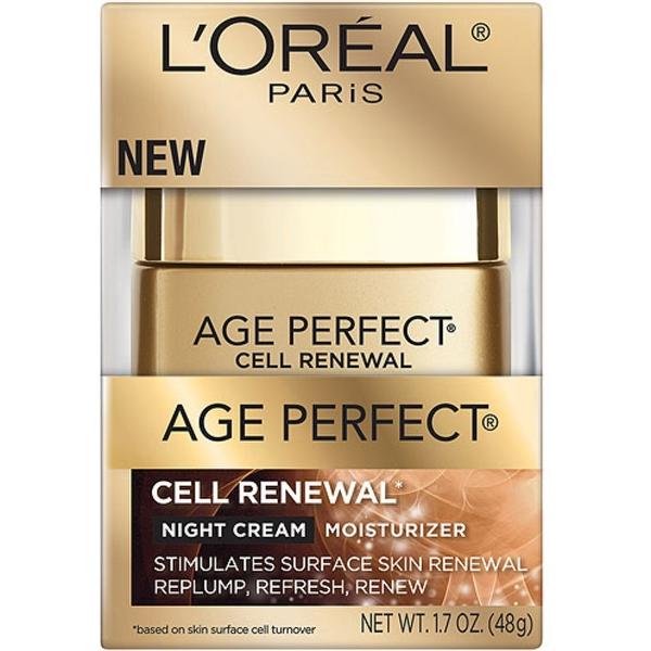 L'Oreal Paris Age Perfect Cell Renewal Night Cream Moisturizer 1.7 oz