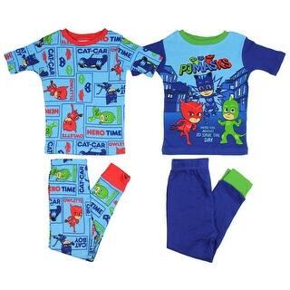 PJ Masks Boys' Cotton 4-Piece Pajama Set short Sleeve Shirt Pants|https://ak1.ostkcdn.com/images/products/is/images/direct/e456e05c6186f7345166d9d7ad0ce1815b6ee0cc/PJ-Masks-Boys%27-Cotton-4-Piece-Pajama-Set-short-Sleeve-Shirt-Pants.jpg?impolicy=medium