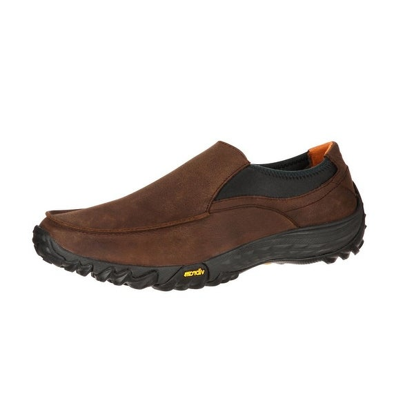 Rocky Outdoor Shoes Mens SilentHunter Casual Slip On Brown