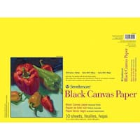 Strathmore 300 Series Black Canvas Paper Pad, 12 x 16 Inches