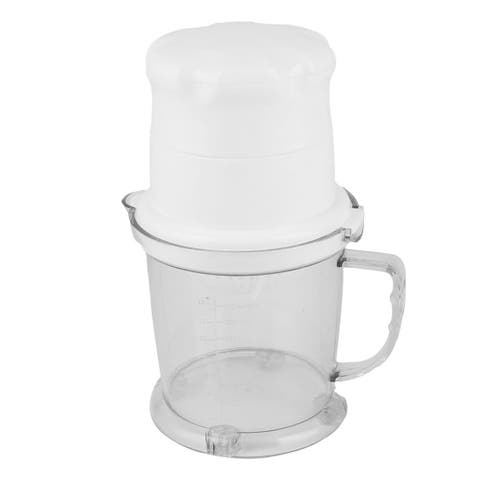Household Kitchen Plastic Fruits Press Squeezer Manual Juicer White 450ML