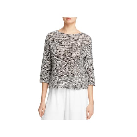 Eileen Fisher Womens Sweater Knit 3/4 Sleeves - S