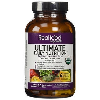Country Life Realfood Organics Ultimate Daily Nutrition - 90 Tablets | Easy to swallow | Wholefood Multivitamin