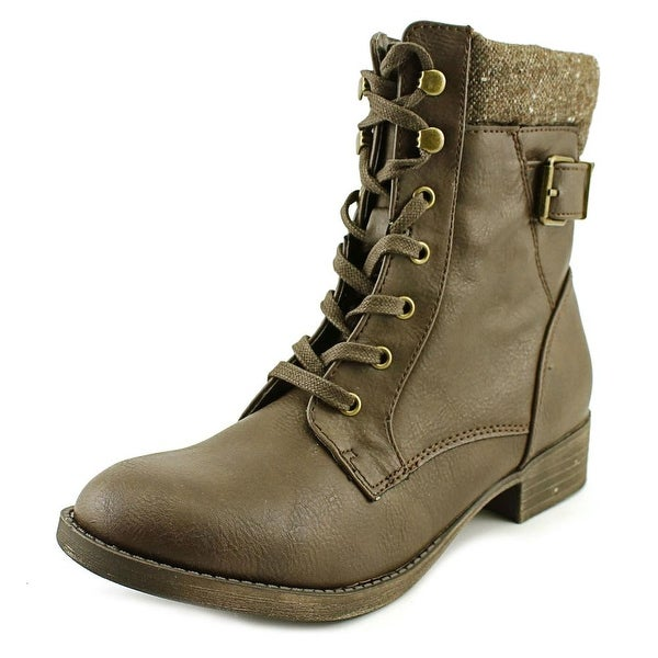 Rampage Jem Women Round Toe Synthetic Brown Boot