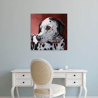 Easy Art Prints Edie Fagan's 'Chloe Dalmatian' Premium Canvas Art
