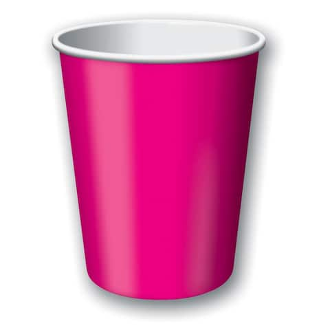 Touch Of Color 24 Count 9oz Hot/Cold Cups Hot Magenta - Multi