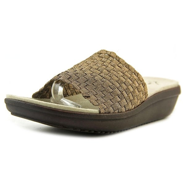 Kim Rogers Finley Women  Open Toe Synthetic Bronze Wedge Sandal
