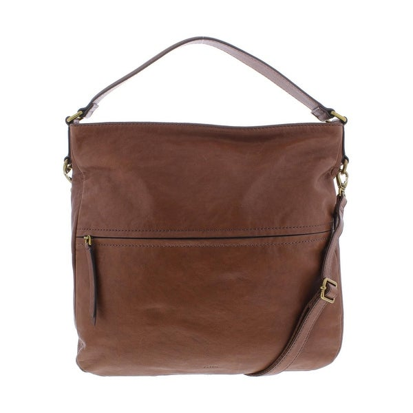 Shop Fossil Womens Corey Hobo Handbag Leather Convertible - LARGE ... d9ab5b84da