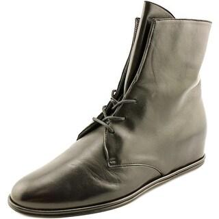 Stuart Weitzman Stepmistress   Round Toe Leather  Bootie