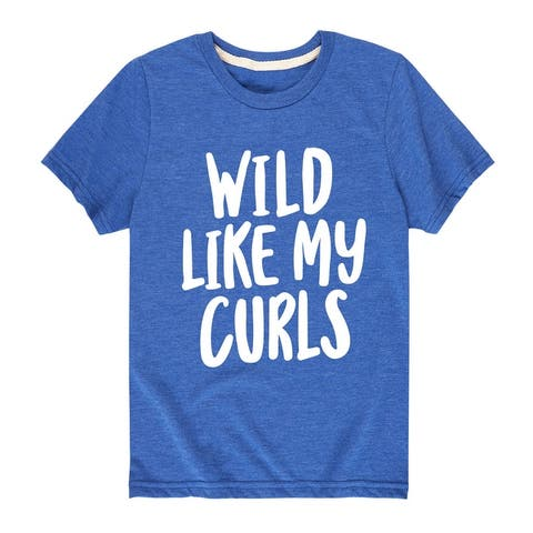 Wild Like My Curls - Youth Short Sleeve T-Shirt