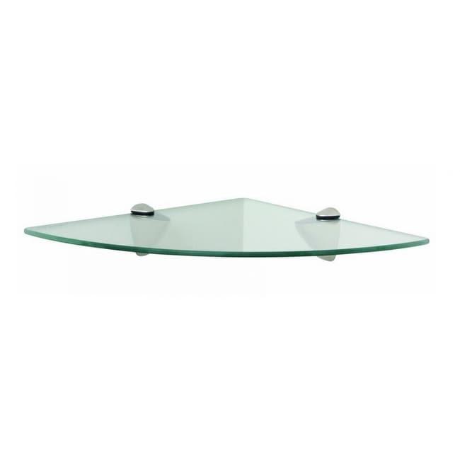 Knape & Vogt KT-0134-1212SN Glass Corner Shelf Kit, Satin Nickel, 12 x 12