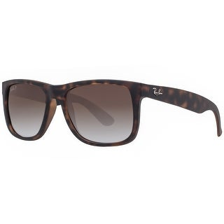Ray Ban Justin RB4165 865/T5 54mm Tortoise Brown Polarized Square Sunglasses - tortoise brown - 54mm-16mm-145mm
