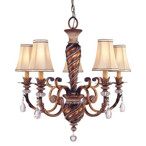 Minka Lavery ML 1745 5 Light 1 Tier Crystal Chandelier from the Aston Court Collection