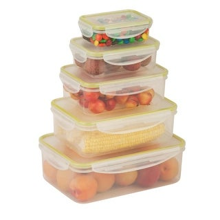Honey-Can-Do KCH-03829 10 Piece Rectangular Plastic Food Storage Set