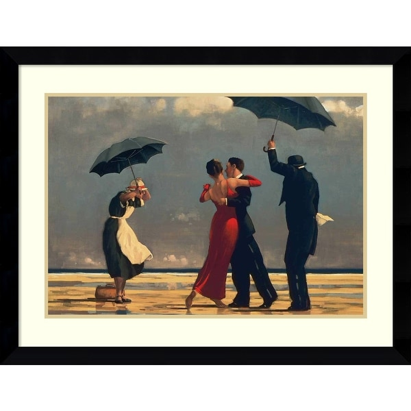 Framed Art Print 'The Singing Butler' by Jack Vettriano 38 x 28-inch. Opens flyout.