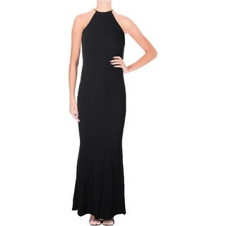 Aqua Womens Formal Dress Crepe Halter
